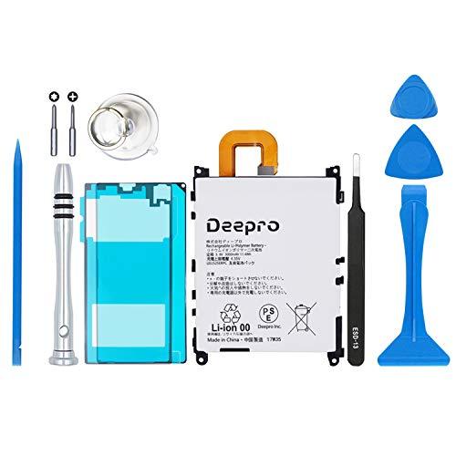 Deepro Xperia Z1 バッテリー 交換キット LIS1525ERPC (SO-01F / SOL23) 交換用 3.8V 3000mAh PSE認証済 ディスプレイ接着剤付き 2年保証