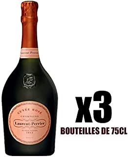 X3 Champagne Brut Rosé 75 cl Laurent-Perrier AOC Champagne