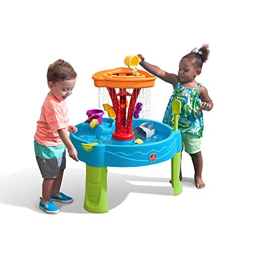 Miyaer Water And Sand Play Table,Play/Sand/Table/w//Table/Cover/,Sandboxes Accessories//22PCS for Kids Outdoor Play Garden Sandpit