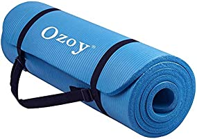Sampri 13 mm Extra Thick Yoga and Exercise Mat Anti Skid with Carrying Strap for Gym Workout and Flooring Exercise