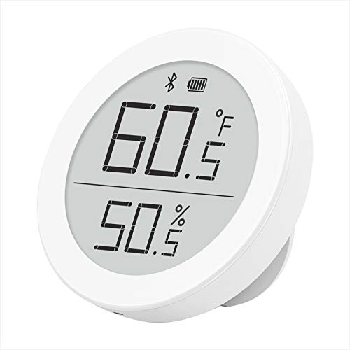 Qingping Bluetooth Digital Thermometer Hygrometer Sensor Works with HomeKit, Smart Wireless Indoor Temperature and Humidity Monitor for Home Room