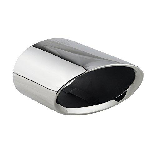 L&P A300 Auspuffblende Endrohrblende Edelstahl spiegel poliert Chrom Plug Play Ersatzteil Endrohrblenden Silber kompatibel mit 1er e81 e82 e87 e88 LCI X1 e84 Auspuff Endrohr Blende