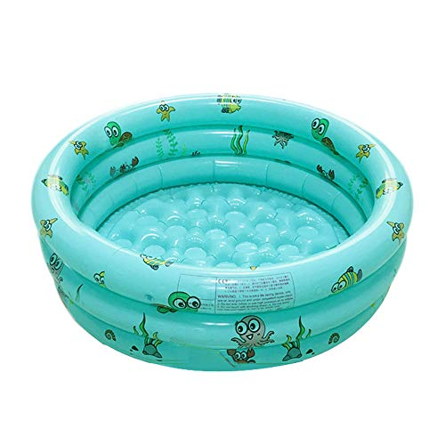 SNOWER Round Inflatable Family Swimming Paddling Pool Inflatable Swimming Pool Kids Bathtub Swimming Pool for Family Children Baby Adult Garden Outdoor,Green,100cm