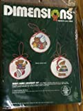 Tamaño #8314 'Merry Bears Ornament Set' Kit de punto de cruz