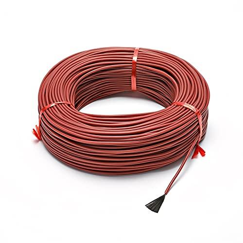 ZHYLing 12K Caucho de Silicona Infrarrojo de Carbono Fibra eléctrica Cable de calefacción Cable de calefacción 33ohm (Size : 30M)