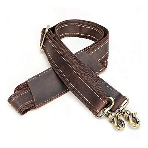 OKwife Vintage Leather Replacement Shoulder Strap For Briefcase Luggage Messenger Bag