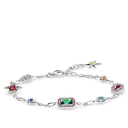 Thomas Sabo Damen-Armband Glücksbringer silber 925 Sterlingsilber A1914-348-7-L19v
