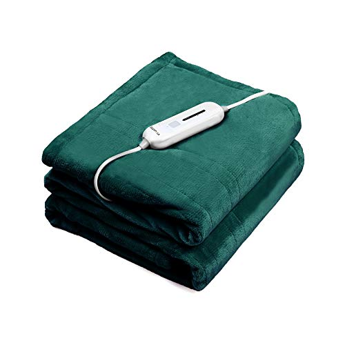 WAPANEUS Electric Heated Blanket with 3 Heating Levels and...