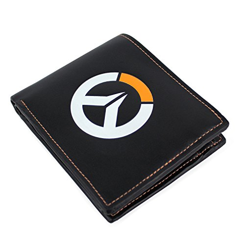 Overwatch OVERWATCH Logo Faux Leather Tri-Fold Monedero 12 Centimeters Negro (Black)