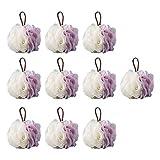 PetKids - Esponja para baño y ducha, 10 unidades, diseño de flor de masaje con flores de baño, esponja grande para exfoliar la piel, calmante para hombre y mujer