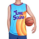 Space 2 Movie Men's Basketball Jersey A New Legacy #6 Costume Halloween Cosplay Sport Outfit Blue