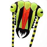 LJMG Drachen Trilobiten Drachen Erwachsenen Drachen Weicher Drachen Windfester Drachen Eltern-Kind-aktivität Outdoor-aktivität, Großer Drachen (Color : Yellow, Size : 2.6 * 2.7M)