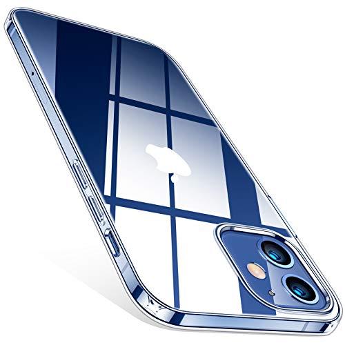 TORRAS Crystal Clear für iPhone 12 Mini Hülle (Vergilbungsfrei, Völlig Durchsichtig) Dünn Komfortabler Handgriff, Stoßfeste Unzerstörbare Schutz, Kratzfeste Handyhülle iPhone 12 Mini Hülle, Transparent