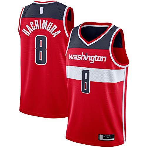 QSWW Rui Top Hachimura Sports Washington Camiseta de Baloncesto Wizards #8 2020/21 Swingman Jersey Rojo - Icono Edition-XL