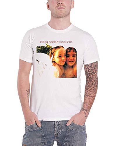 Smashing Pumpkins T Shirt Siamese Dream Band Logo Official Mens White Size XXL