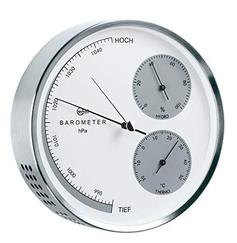 Barigo 351 Wetterstation Edelstahl gebürstet Barometer Thermometer Hygrometer 160mm