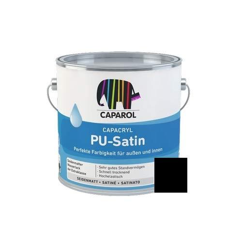 Caparol Acryllack Capacryl PU Satin seidenmatt RAL 9005 Tiefschwarz 0,75 Liter