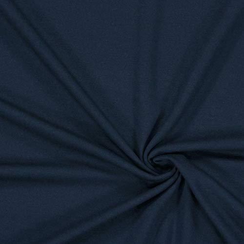 Fabulous Fabrics Viskosejersey mittelschwer – Navy - Viskose Jersey Stoff zum Nähen von Leggings, Tops, Kleider und Tuniken - Meterware ab 0,5m