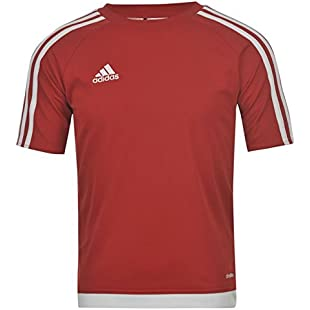 Customer reviews adidas Kids 3 Stripe Estro T Shirt Junior Boys Short Sleeved Tee Top UniRed/White 9-10 (MB):Dailyvideo