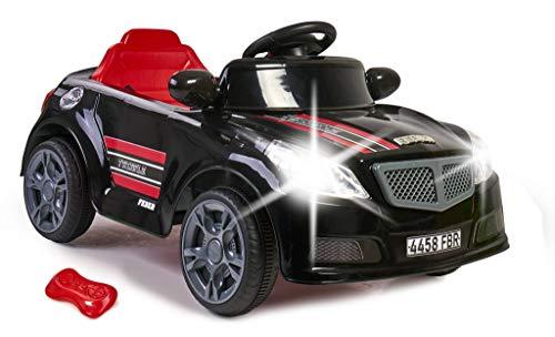 Feber- Twinkle Black CE Twincle Car R/C, Coche eléctrico con Radio Control, niñas de 3 a 6 años (Famosa 800012740)