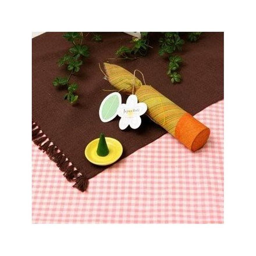 マイク葉っぱモールお香/インセンス 〔フランジパニの香り コーンタイプ10個入り〕 バリ島製 「Jupen Bari/ジュプンバリ」[通販用梱包品]