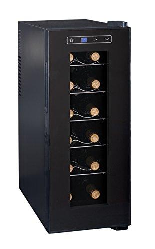 Ardes 5I12V AR5I12V Cantinetta Termoelettrica da 12 Bottiglie con Luce Interna, Display Digitale, Controllo Touch e Scaffali a Rastrelliera Estraibili, Acrilico