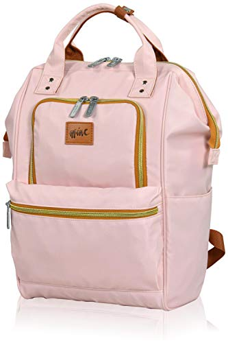 Eminent Daypack Mine Bag 15 Inch 16 L Backpacks Lightweight Casual Rucksacks for Business, Leisure, Holiday Travel Packs RFID Blocking Tech for College, Work, School Girls, Womens, Ladies, Teens Pink