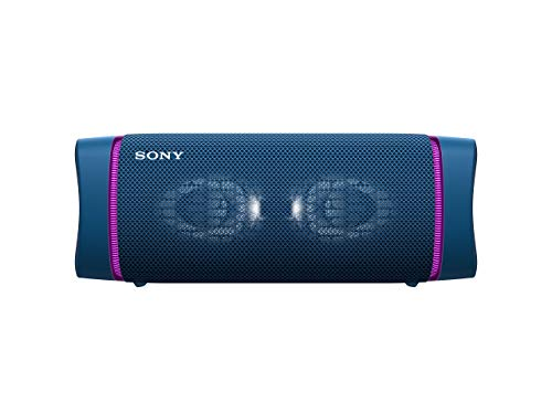 Sony SRS-XB33 - Speaker bluetooth waterproof, cassa portatile con autonomia fino a 24 ore e effetti luminosi (Blu)