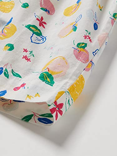 Petit Bateau 5968001 Vestido, Marshmallow/Multico, 24 Meses para Bebés
