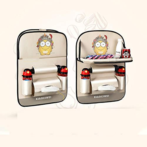 Car Backseat Organizer 2 Pack Waterproof And Durable Car Seat Organizer Kick Mats Muti-Pocket Back Seat Storage Bag With Touch Screen Tablet Holderto Organize Toy IPad Bottle Snacks Books