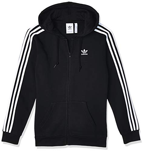 Adidas 3-Stripes Fz Track Tops, Uomo, black, S