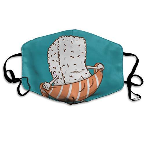 SUSHI TOALLA Unisex bufanda facial ajustable a prueba de polvo protector bucal a prueba de viento bandanas cara transpirable