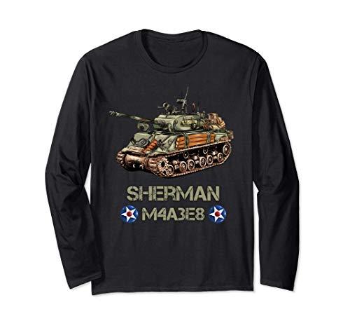 Amerikanischer Panzer M4A3E8 Sherman-Erinnerungsstücke aus Langarmshirt