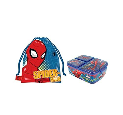 Sandwichera con 3 Compartimentos para niños - lonchera Infantil - Porta merienda...