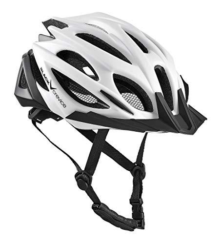 Black Crevice BCR325038, Casco Bici Unisex Adulto, Bianco/Nero, S/M (54-58 cm)