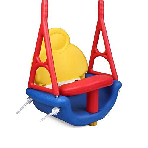 JTKDL Swing, 3 en 1 Swing de niño pequeño, Asiento de Swing de plástico Seguro, Robusto para Swingset Playground en el Interior