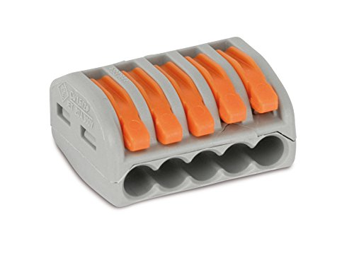 TERMINAL BLOCK, W/LEVER, 5COND, 4MM² 222-415 By WAGO