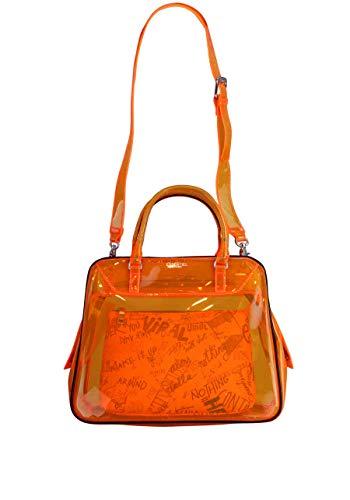 Essentiel Antwerp Shopper Tasche VAROUSKA durchsichtig Zipper orange