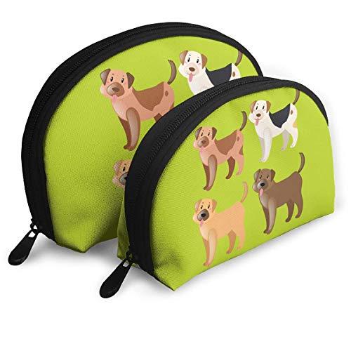 XCNGG Bolsa de almacenamiento Perros lindos Bolso de maquillaje de viaje portátil Impermeable Organizador de artículos de tocador Bolsas de almacenamiento