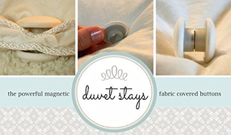 Duvet Stays (Ivory) U.S. patent 8464377 keep your down comforter from shifting inside your duvet! No more shaking and shifting! Set of 4 comforter clips