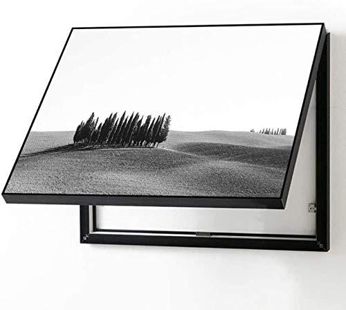 SHILONG Caja Eléctrica Caja De Pintura Decorativa Caja De Distribución De Pintura Decorativa Pintura Decorativa Pintura Decorativa Blanco Y Negro Fotón Simple Mural Módulo De Fusible Caja De Fusibles