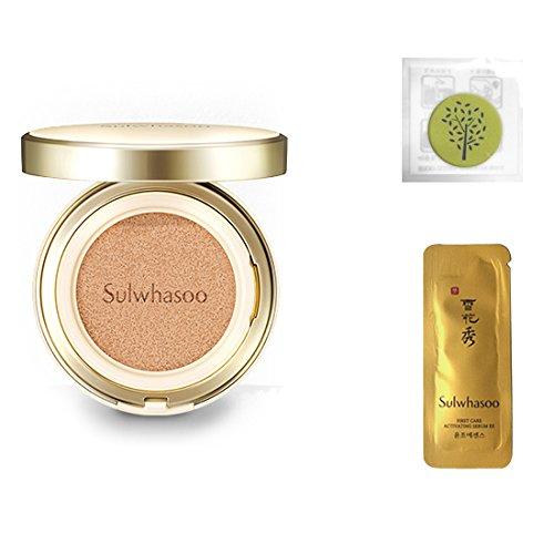 2017 New Sulwhasoo Perfecting Cushion EX (No.21 Natural Pink) 0.53oz(15g)+Refill 0.53oz(15g)