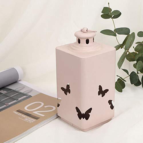 Mothinessto Forma única Candelabro Linterna Candelabro Decoración de Mesa Adorno Decoración del hogar(Pink)