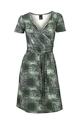 Heine - Best Connections Damen-Kleid Kleid mit Gürtel Grün Größe 40
