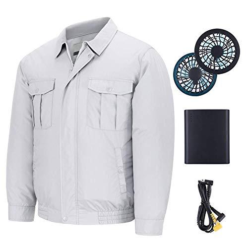 feeilty 2019 Nuevo Unisex Ropa De Trabajo Ropa De Abrigo Chaqueta Equipada Ventilador De Refrigeración para El Verano Al Aire Libre Aire Acondicionado