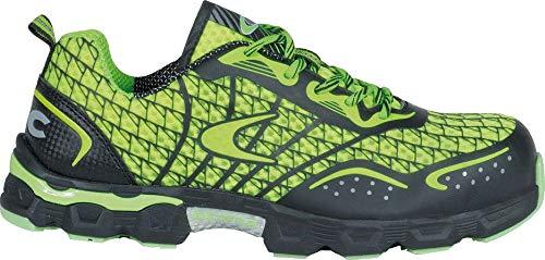 COFRA® Arbeitsschuhe Low Kick S1P sehr leichte extrem atmungsaktive Sicherheitsschuhe in Mehreren Farben (43, Lime/Grün)