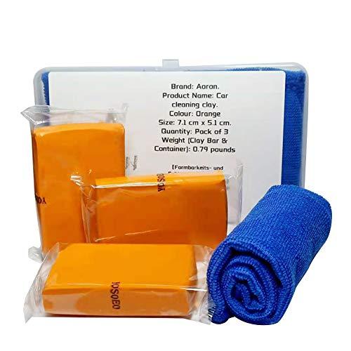 AORON Reinigungsknete Auto Car Clay Bar 100g Reinigungsmasse Lackreinigungsknete zur Lackpflege und Felgenreinigung für Auto, Motorrad, Wohnwagen etc
