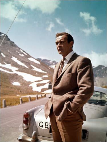 Stampa su Tela 70 x 90 cm: Goldfinger, Sean Connery di Everett Collection - Poster Pronti, Foto su Telaio, Foto su Vera Tela, Stampa su Tela