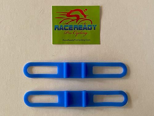 2 RaceReady - Elastic Band Handlebar Accessory Straps - Flashlight Torch Holder (Blue)