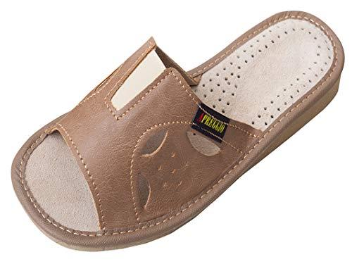 Apreggio - Zapatillas de Mujer Hechas de Cuero - Suela de Goma...